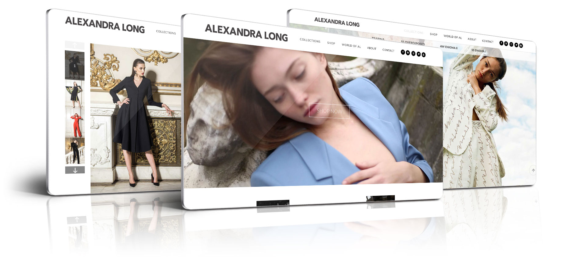 Alexandra Long- Website Design by Get New Design Agency